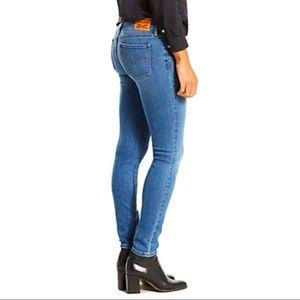 Levi's 711 Skinny Jeans Blue Indigo Rays Size 27